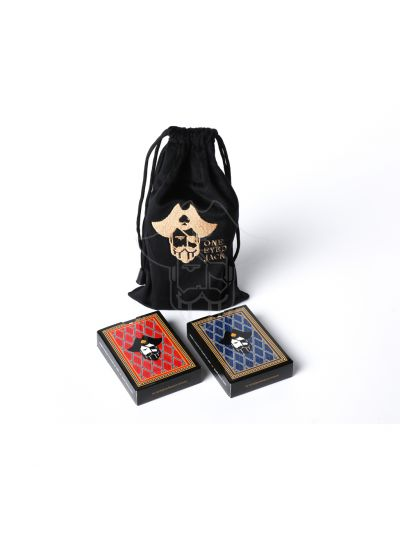 One Eyed Jack Gun Powder Premium Plastic Playing Cards Gift Set (2 Packs)