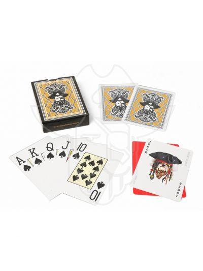 One Eyed Jack Sea Dog Premium Plastic Playing Cards Gift Set (2 Packs)